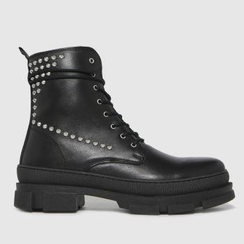 Steve Madden Black Tornados Womens Boots