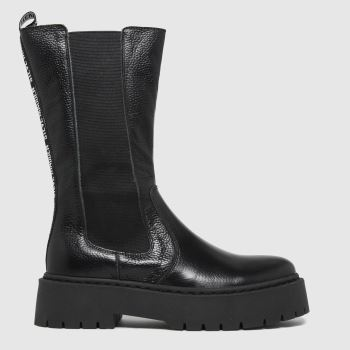 Steve Madden Black Vivianne Womens Boots
