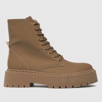 Steve Madden Beige Skylar Ankle Boot Womens Boots