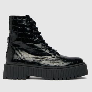 Steve Madden Black Skyhy Ankle Boot Womens Boots
