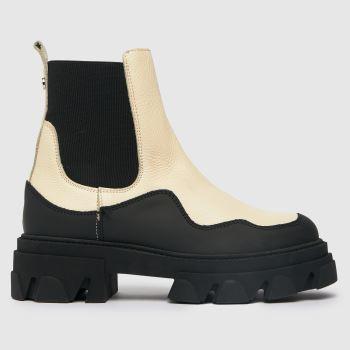 Steve Madden Black & White Merilyn Ankle Boots