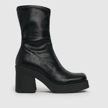 Steve Madden Black Uptake Platform Ankle Boots