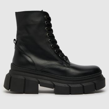 schuh Black Adele Chunky Lace Up Boot Womens Boots