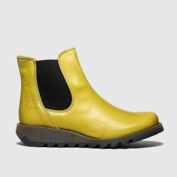 FLY LONDON Yellow Salv Womens Boots