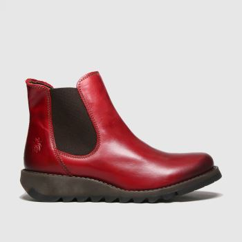 FLY LONDON Red Salv Womens Boots