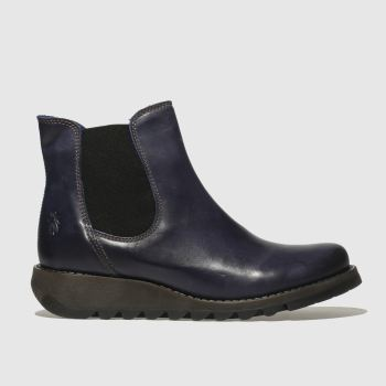 Fly London Navy Salv Womens Boots