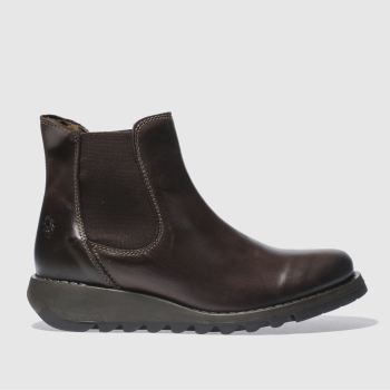 Fly London Brown Salv Womens Boots
