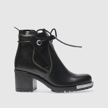 Fly London Black Luxe Womens Boots
