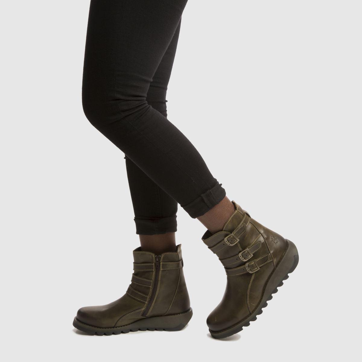 Damen Khaki fly london Sard Boots | schuh Gute Qualität beliebte Schuhe