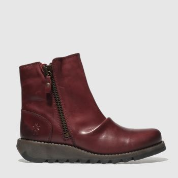 Fly London Red Song Womens Boots