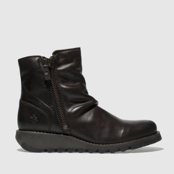 Fly London Dunkelbraun Song Damen Boots