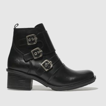FLY LONDON BLACK CRIP BOOTS