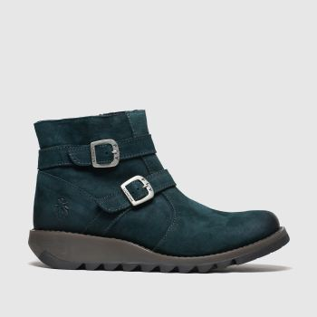 Fly London Turquoise Serz Womens Boots