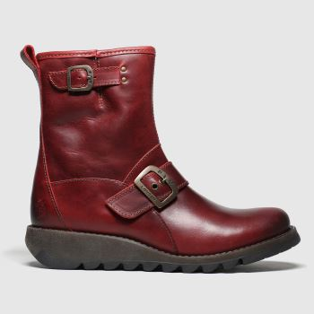 Fly London Red Sino Womens Boots