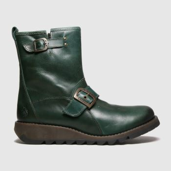 Fly London Dark Green Sino Womens Boots#