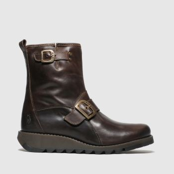 Fly London Brown Sino Womens Boots