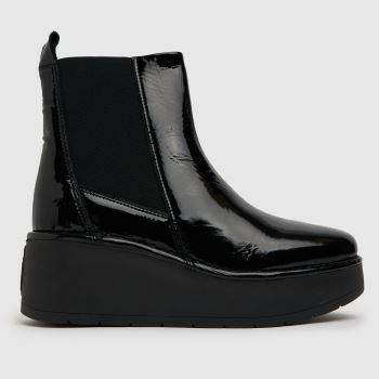 Fly London Black Fly Hagu Platform Chelsea Womens Boots