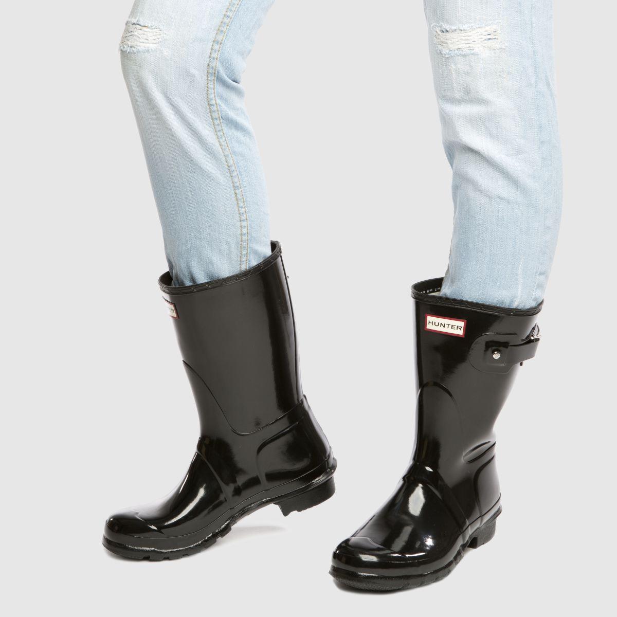 Damen Schwarz hunter Original Gloss Short Boots beliebte | schuh Gute Qualität beliebte Boots Schuhe aa8375