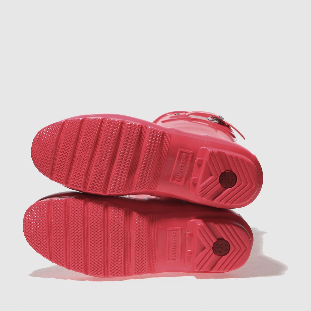 Damen Pink Boots hunter Original Short Gloss Boots Pink | schuh Gute Qualität beliebte Schuhe 7dad9f