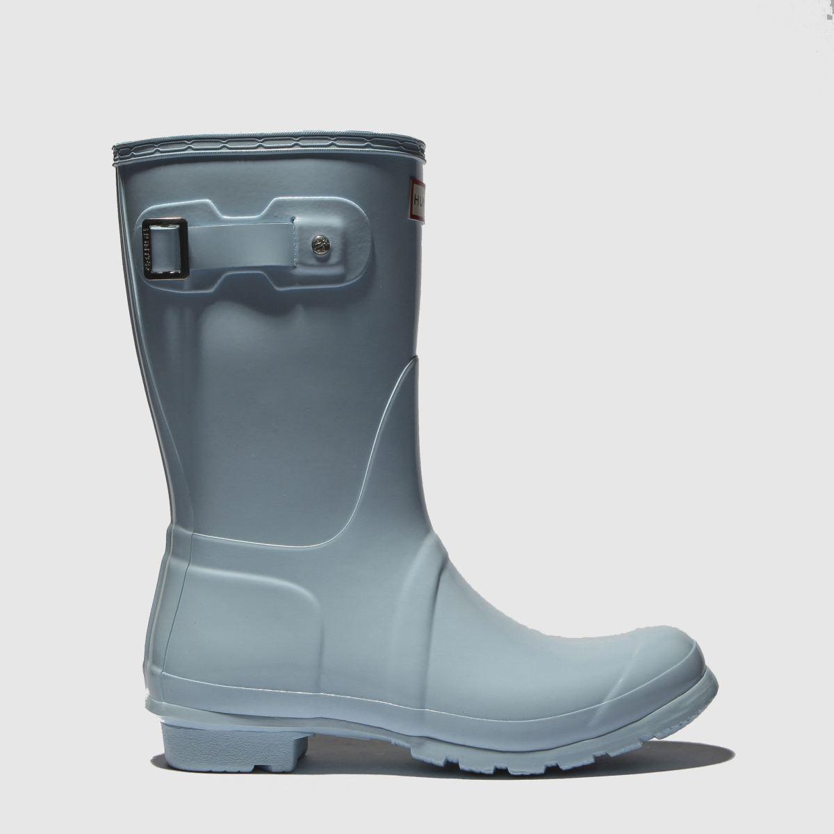 Hunter Pale Blue Original Short Gloss Boots
