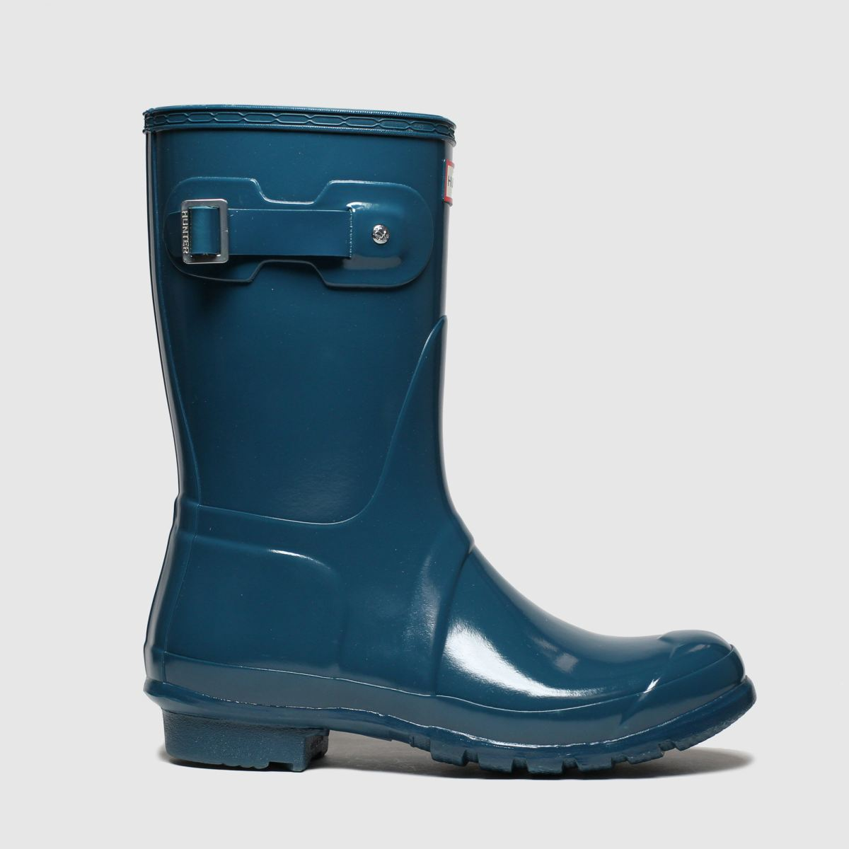 Hunter Navy Original Short Gloss Boots