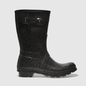 Hunter Black Original Starcloud Short Womens Boots