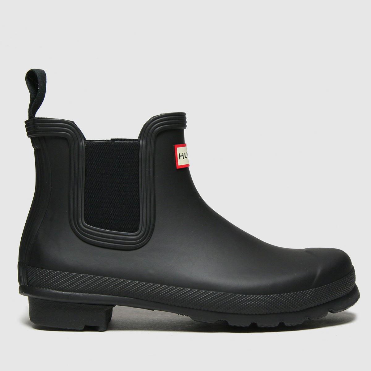 Hunter Black Original Chelsea Boots