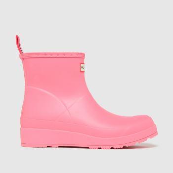 Hunter Pale Pink Original Play Short Womens Boots