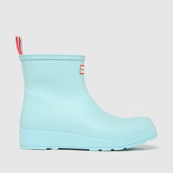 Hunter Pale Blue Original Play Short Womens Boots