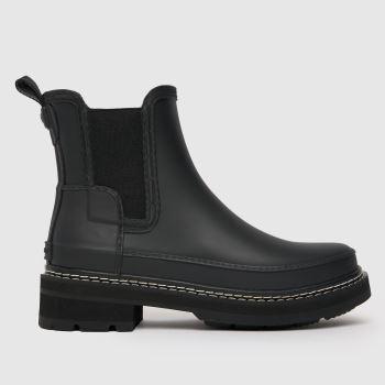Hunter Black Refined Chelsea Womens Boots