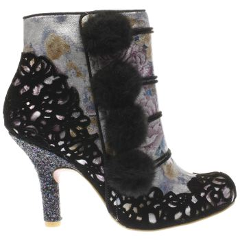 Irregular Choice Black Slummber Party Womens Boots