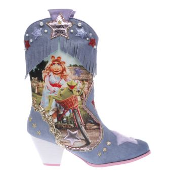IRREGULAR CHOICE PALE BLUE MUPPETS SHES HIP HES HOP BOOTS