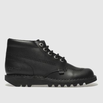 Kickers Black Kick Hi Mono Womens Boots