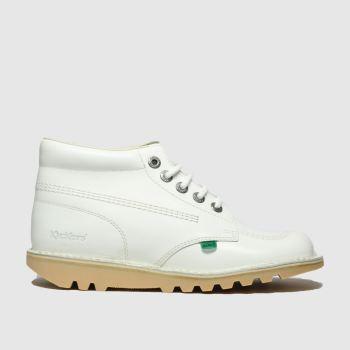 KicKers White Kick Hi Womens Boots