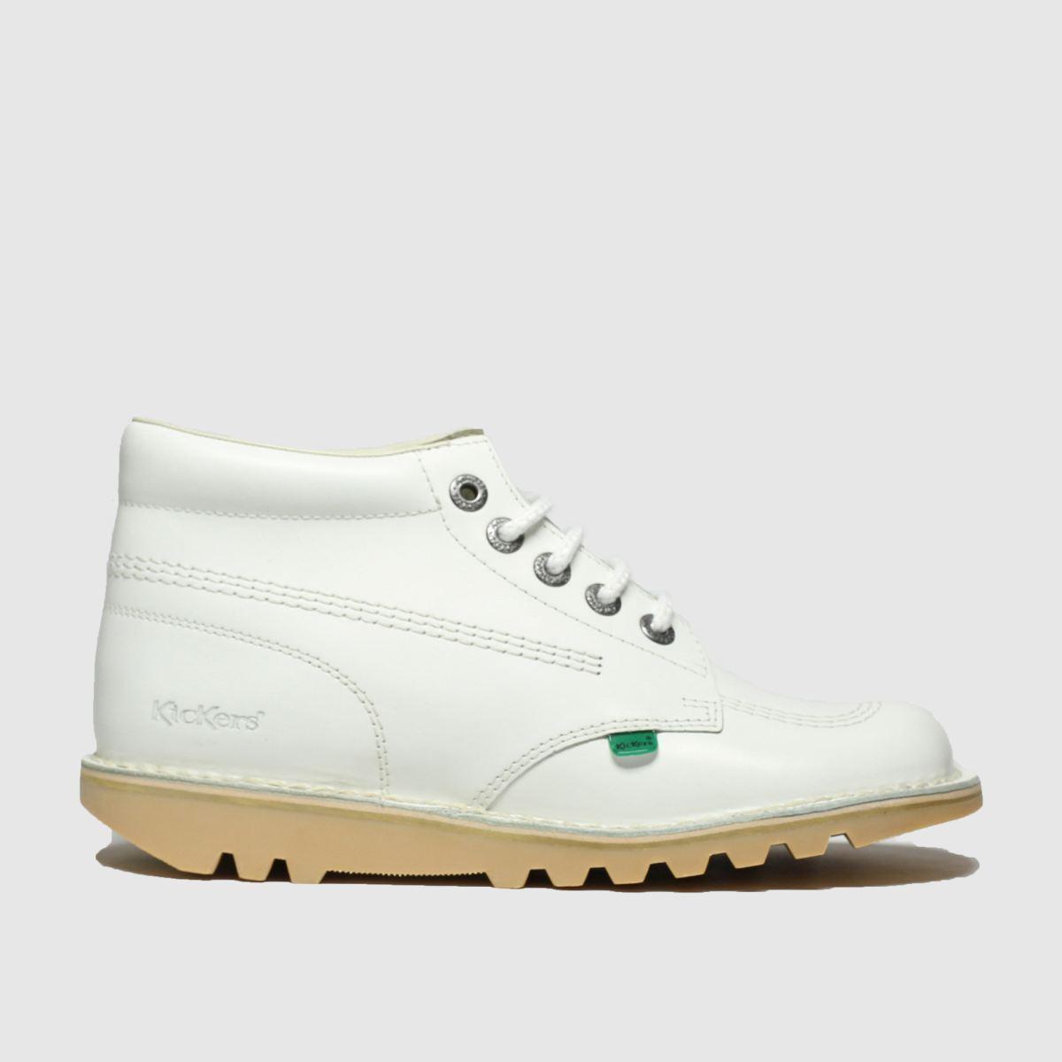 Kickers White Kick Hi Boots