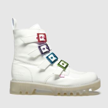KicKers White Kizzie X Confetti Crowd Womens Boots