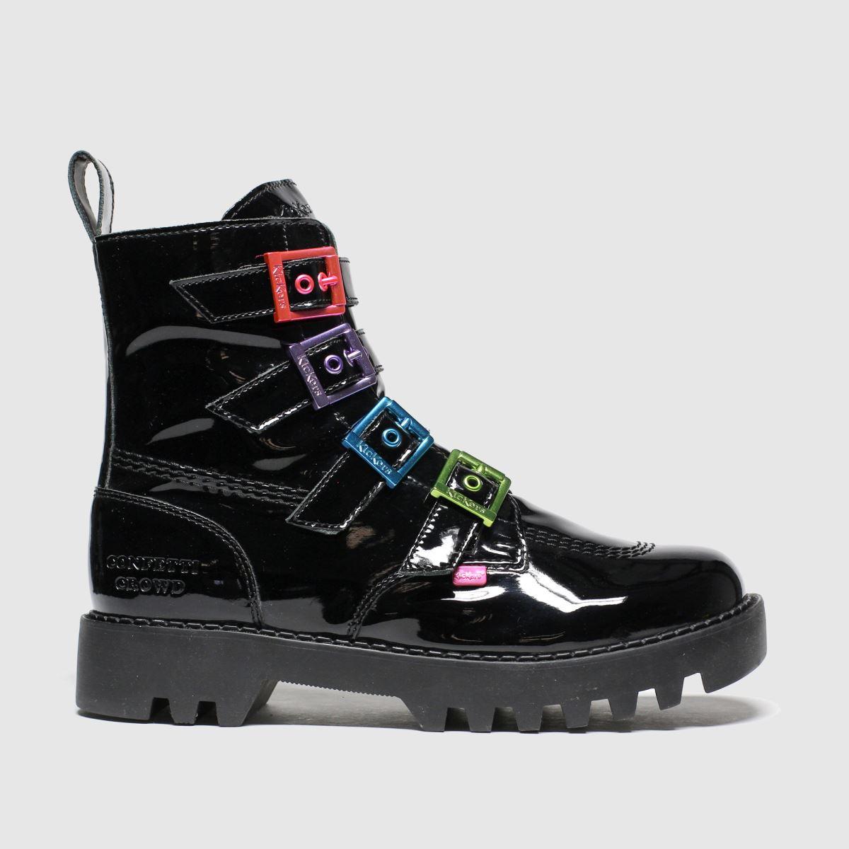 Kickers Black Kizzie X Confetti Crowd Boots