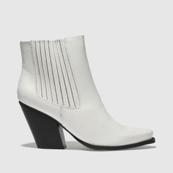 Missguided White Western Ankle Womens Boots