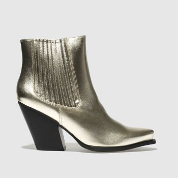 Missguided Gold Western Ankle Womens Boots