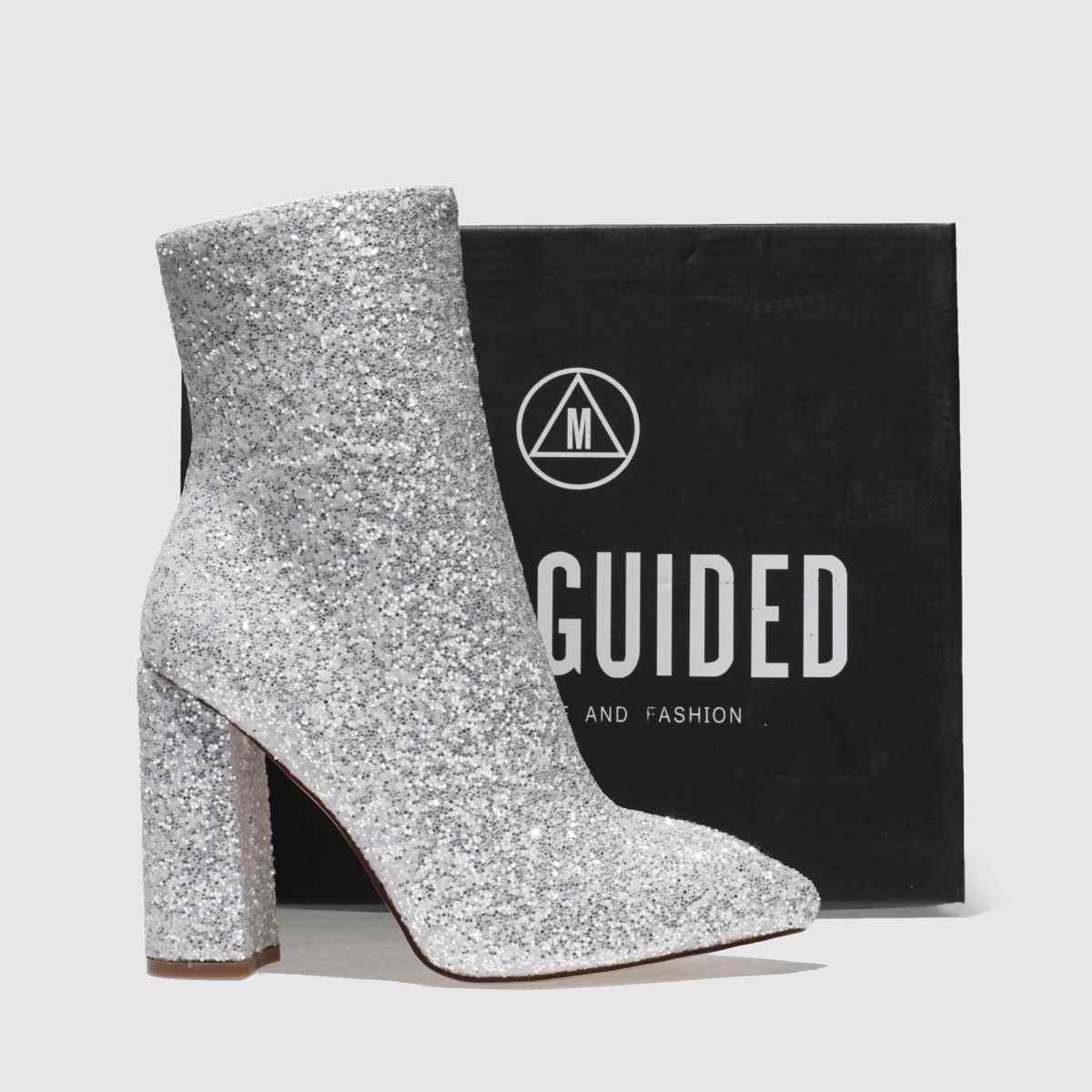 Damen Weiß missguided Qualität Flared Glitter Boots | schuh Gute Qualität missguided beliebte Schuhe 70a7b0