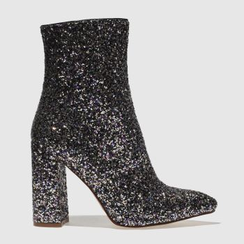 Missguided Black & Purple Flared Glitter Womens Boots
