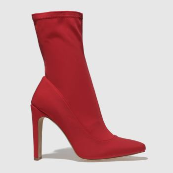 Missguided Red Sq Illusion Womens Boots