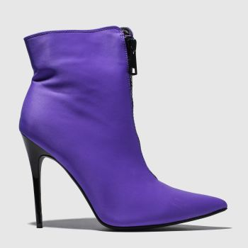 Public Desire Purple Techno Womens Boots