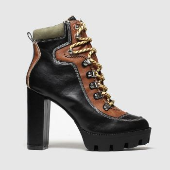 Public Desire Black Dakota Womens Boots