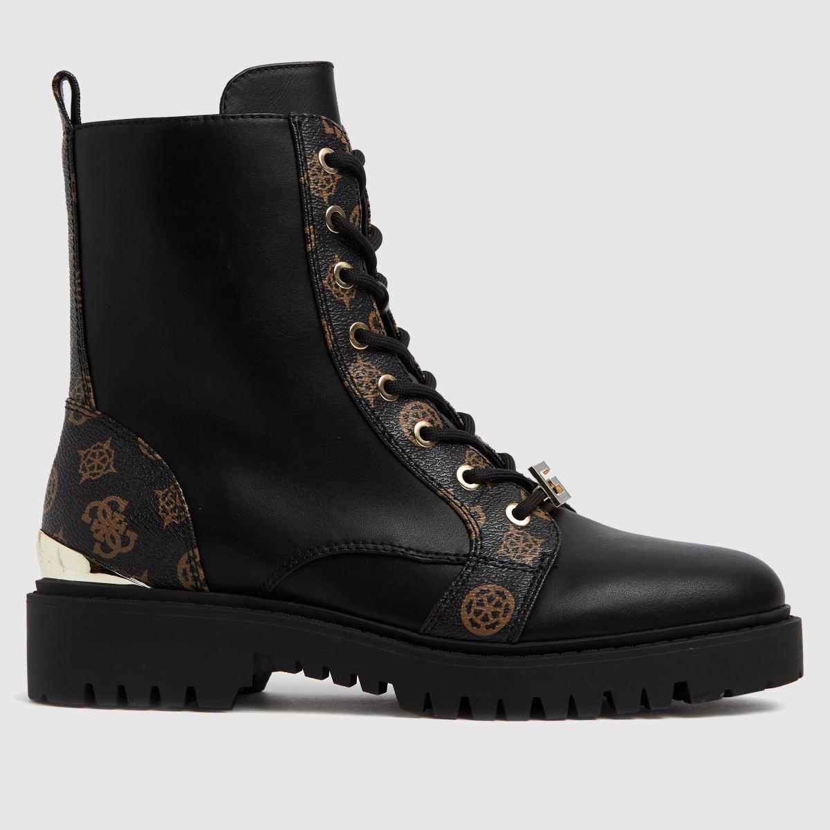 GUESS Black & Brown Omala Boots