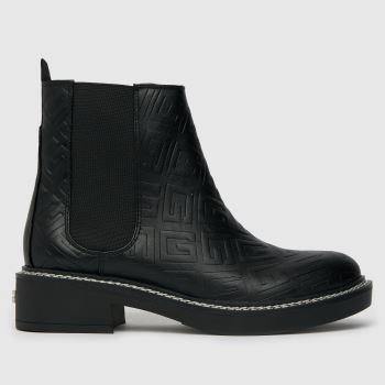 GUESS Black Taffeta Chelsea Womens Boots