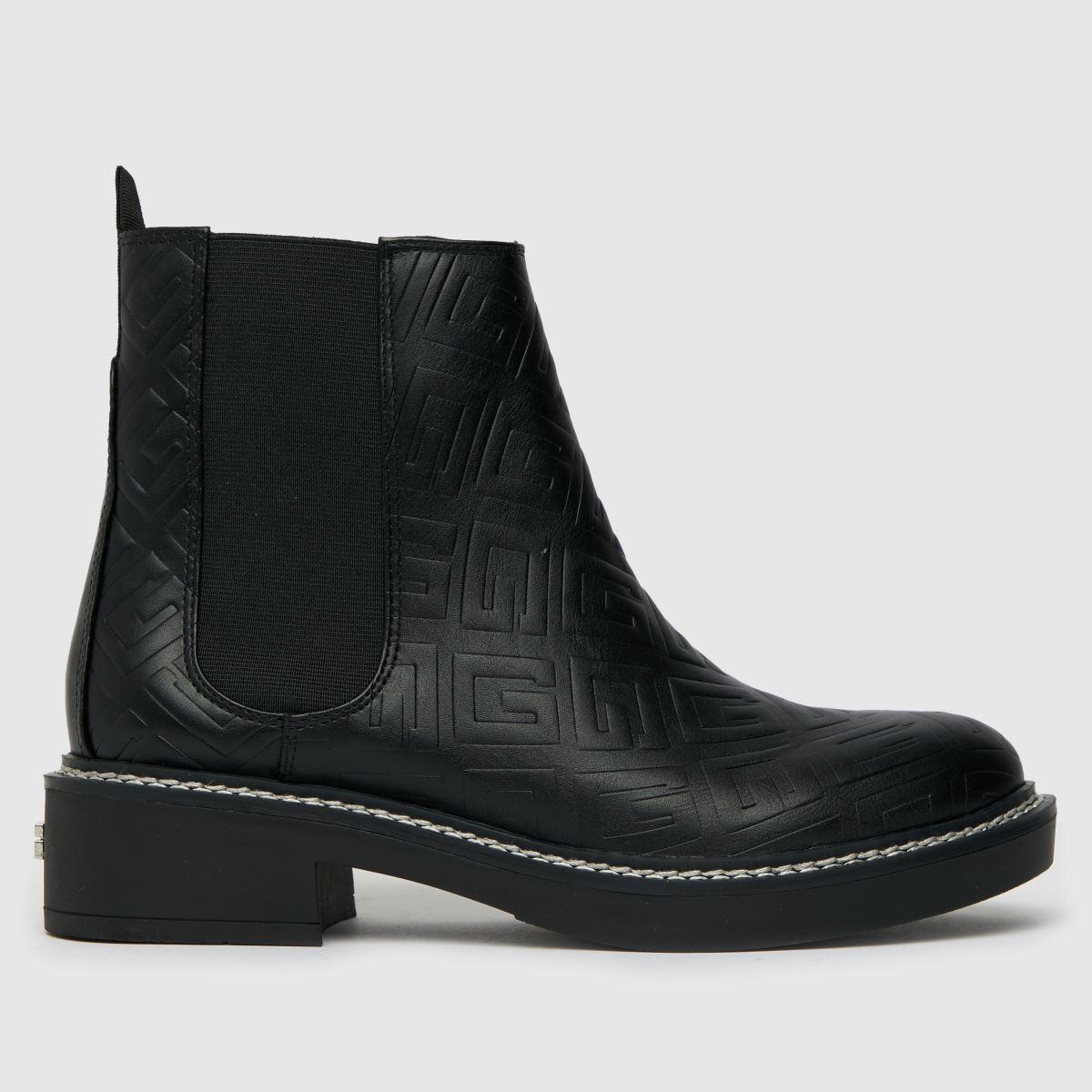 GUESS Black Taffeta Chelsea Boots