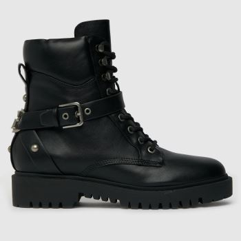 GUESS Black Odina Lace Up Womens Boots