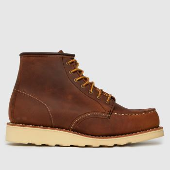 Red Wing Brown 6-inch Classic Moc Womens Boots