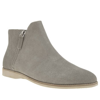 ROLLIE NATION GREY SIDEZIP BOOTIE BOOTS